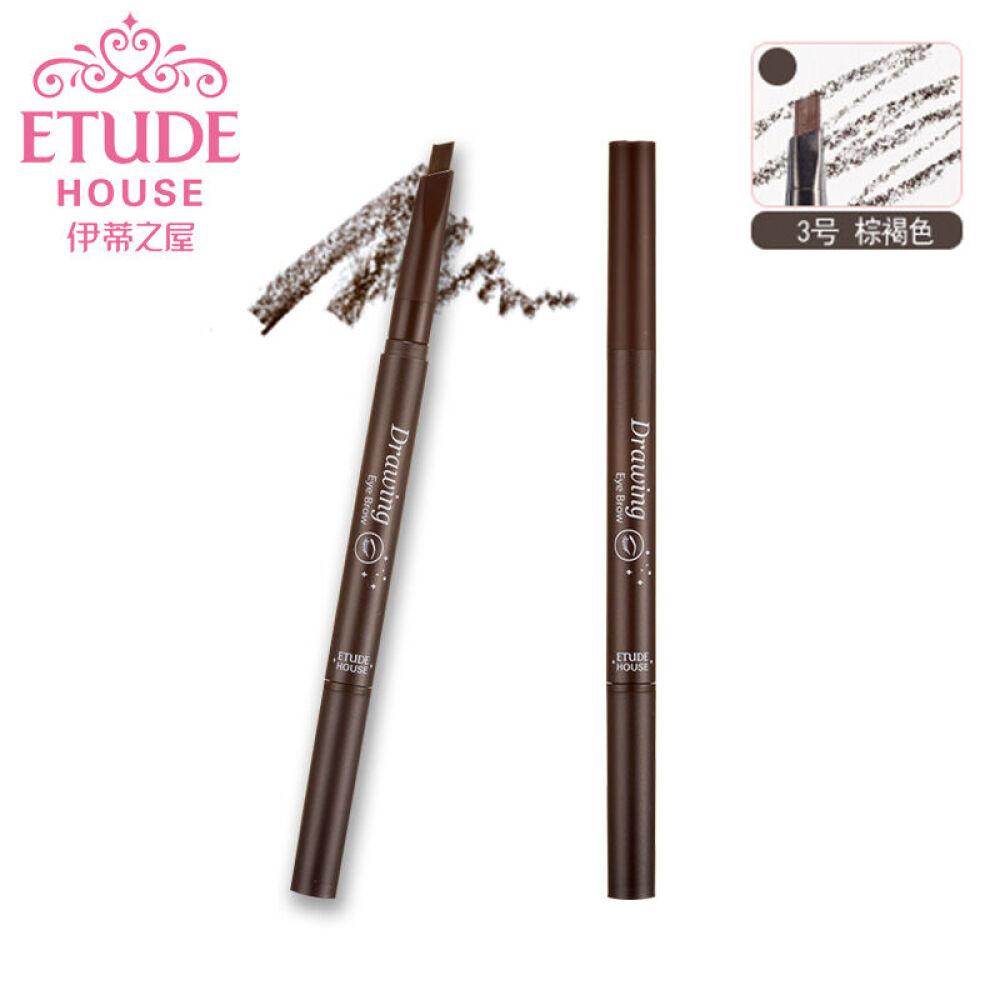 伊蒂之屋(etudehouse)睛彩自然眉笔两只装(爱丽小屋原名)#03棕褐色*2