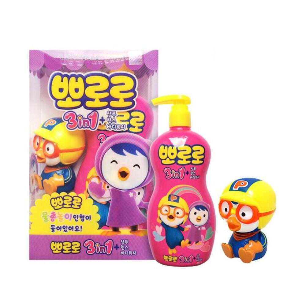 韩国啵乐乐pororo三合一洗发水400g4个